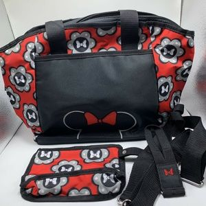 Disney Baby Mickey Mouse 3pc Diaper Bag Tote Combo